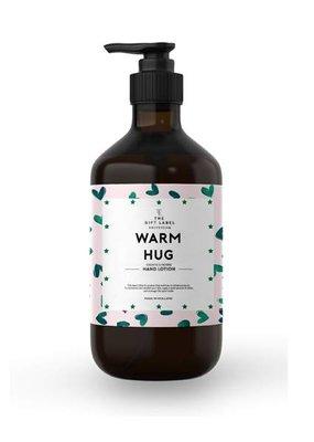 The gift label Handcreme pompje: warm hug