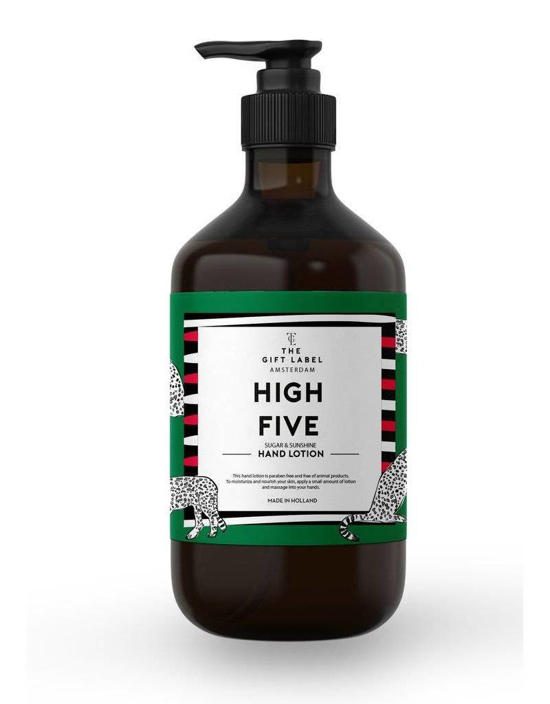 The gift label Handcreme pompje: high five