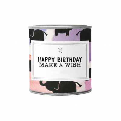 The gift label Candle Tin Small:  Happy Birthday - Jasmine vanilla