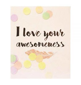 The gift label Confetti kaart: I love your awesomeness