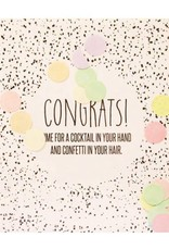 The gift label Confetti kaart: Congrats
