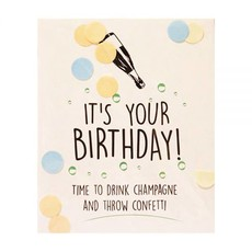 The gift label Confetti Kaart: It's your birthday
