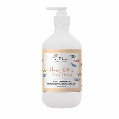 The gift label Baby Shampoo: Happy little handsome