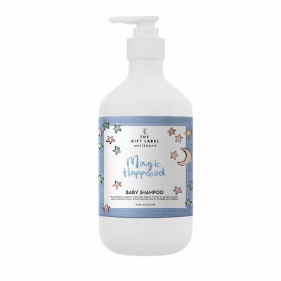 The gift label Baby Shampoo: Magic happened