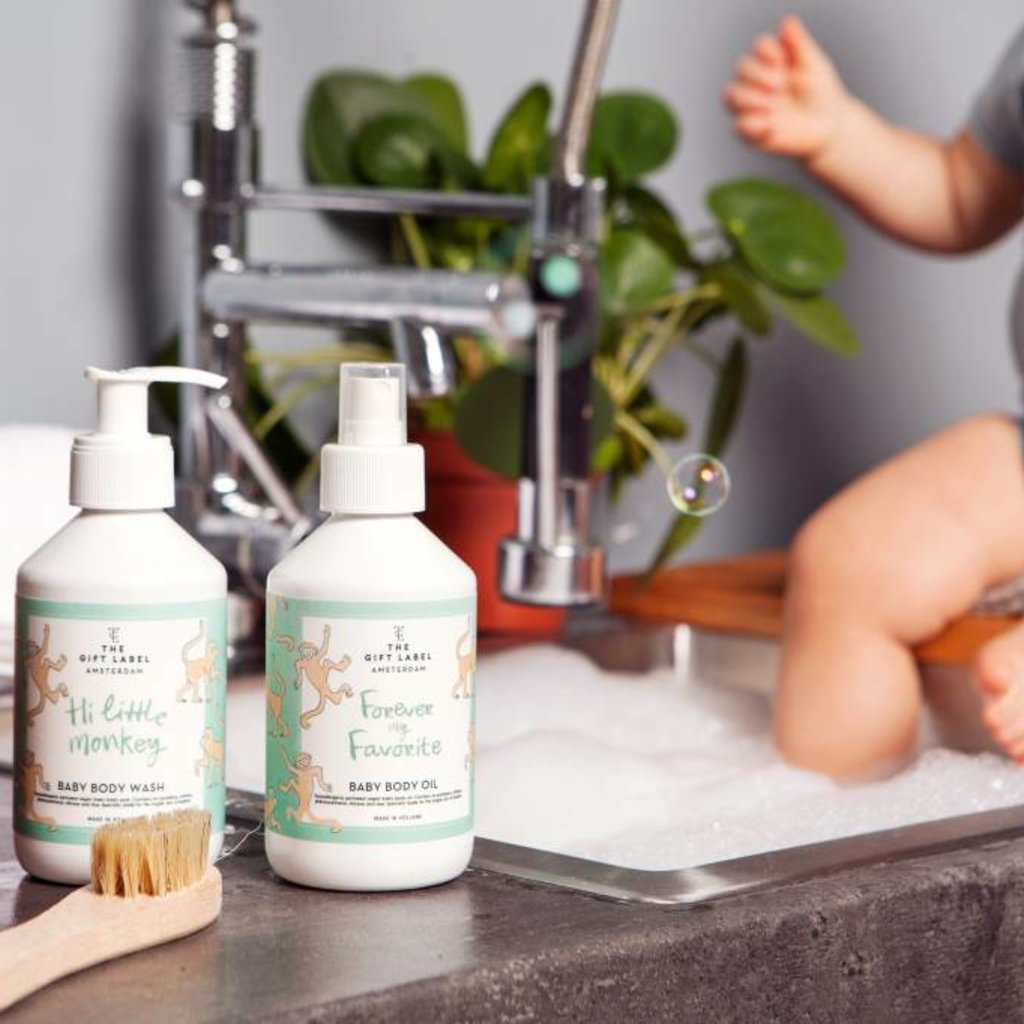 The gift label Baby Body Wash: Bubbly baby