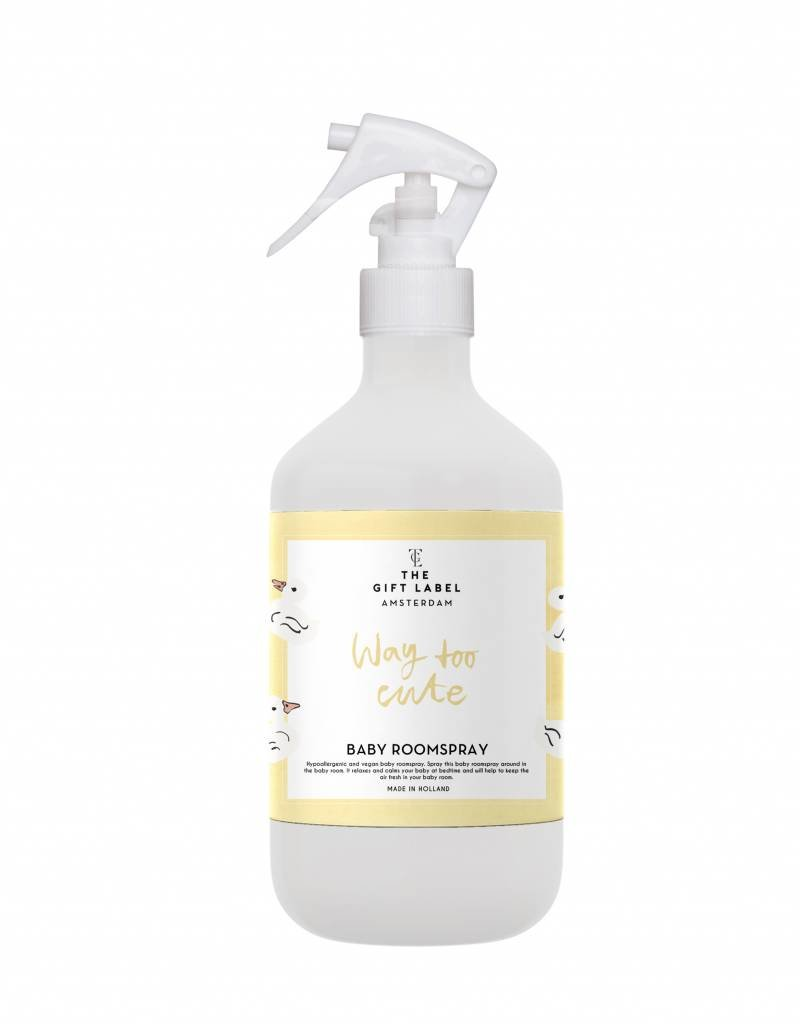 The gift label Baby Roomspray: Way too cute