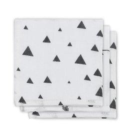 Jollein Monddoekje hydrofiel Indians black & white (3pack)
