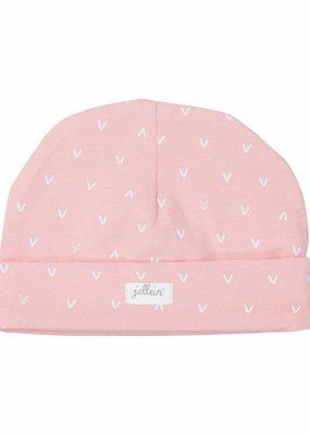 Jollein Muts 0-6 maand Hearts soft pink
