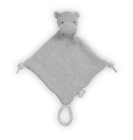 Jollein Knuffeldoekje Soft knit hippo light grey