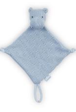 Jollein Knuffeldoekje Soft knit hippo soft blue