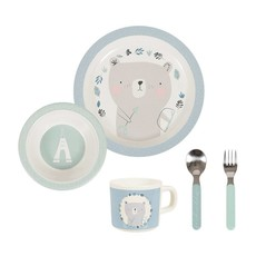 Little Dutch Melamine eetset (servies) 5 delig - adventure blauw