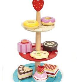 Le toy van Houten etagere met gebakjes