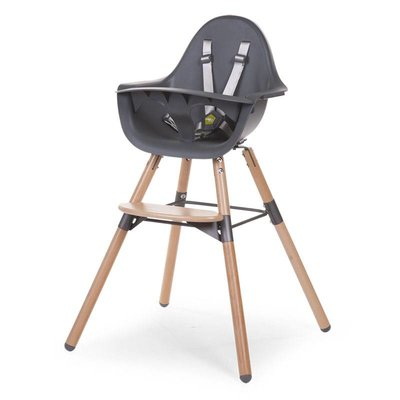Childhome Childhome; 2 STOEL NATUREL / ANTHRA 2 in 1+BEUGEL