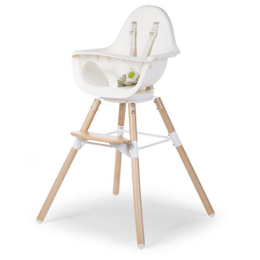 Childhome Childhome; 2 STOEL NATUREL / WIT 2 in 1+BEUGEL