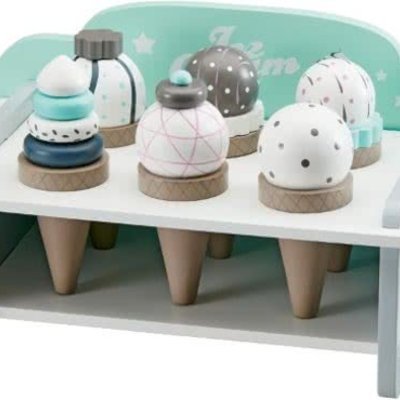 Kids Concept Kids Concept;  Ice Cream Rack With Ice Cream Cones