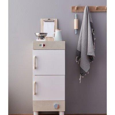 Kids Concept Kids Concept;  fridge and freezer kids Bistro wood white