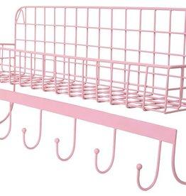 Kidsdepot Wire wallshelf roze