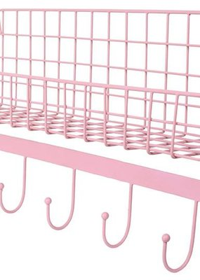 Kidsdepot Wire wallshelf roze