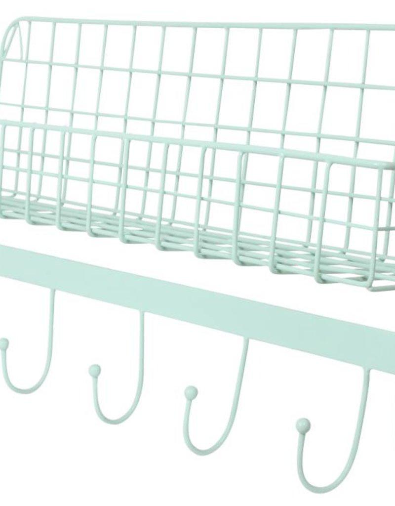Kidsdepot Wire wallshelf mint