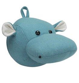 Kidsdepot Zoo hippo blauw