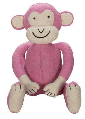 Kidsdepot Jungle aapje roze