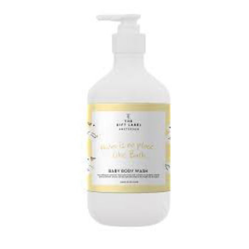 The gift label Baby Body Wash: There is no place