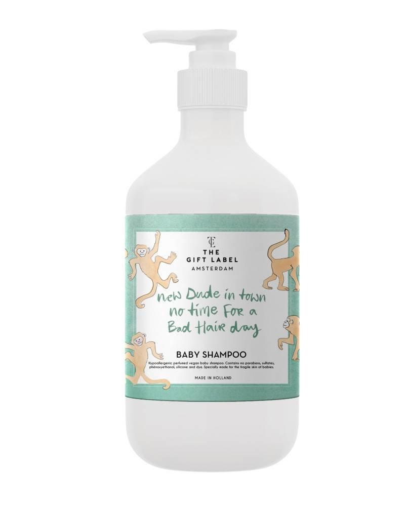 The gift label Baby Shampoo: New dude licht blauw
