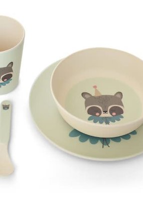 Eef lillemor Bamboo Eco Dinner set - circus racoon