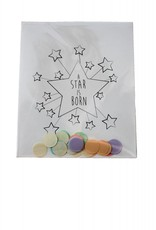 The gift label Confetti Kaart: A star is born