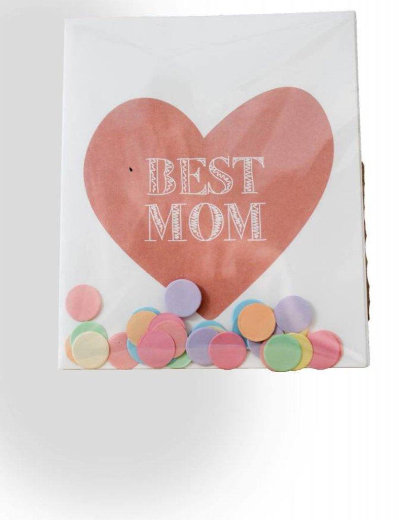 The gift label Confetti Kaart: Best mom