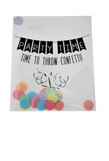 The gift label Confetti Kaart: Party Time