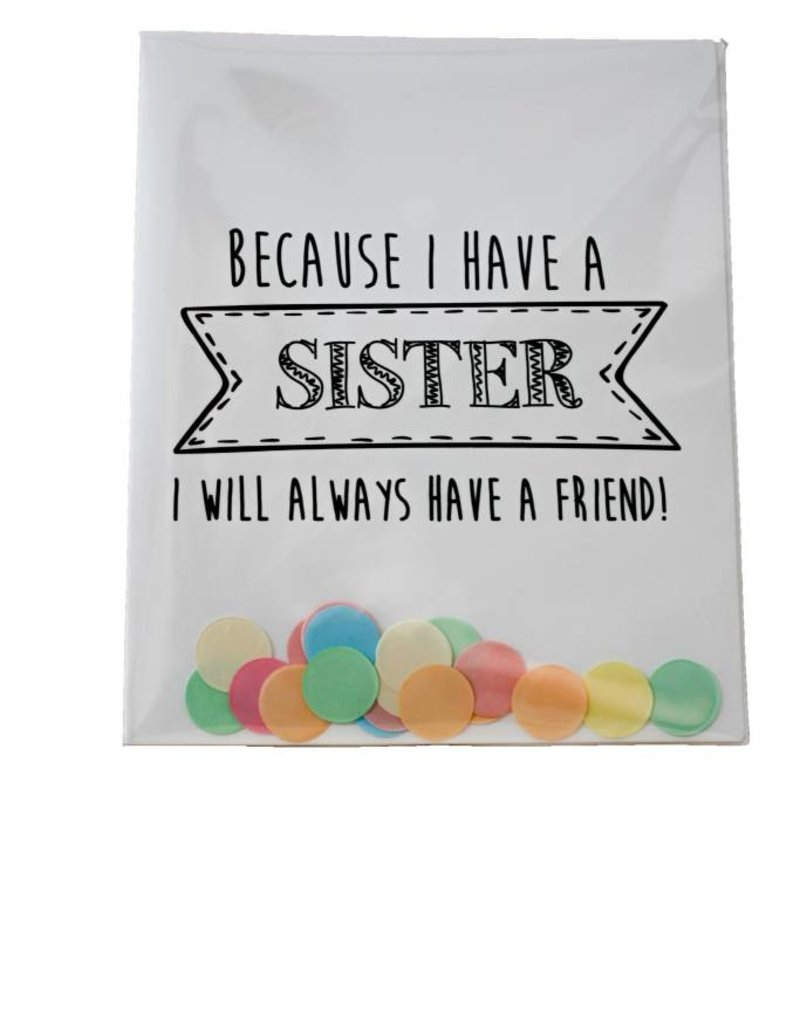 The gift label Confetti Kaart: Sister