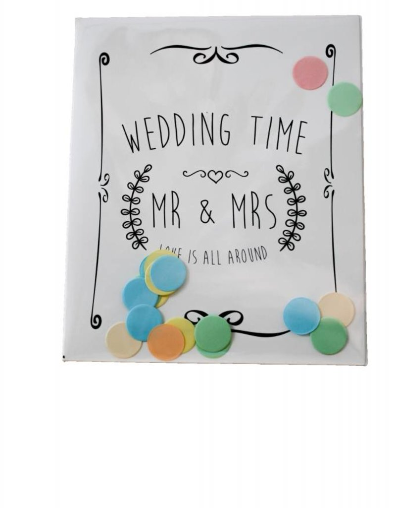 The gift label Confetti Kaart: Wedding time