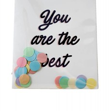 The gift label Confetti Kaart: You are the best