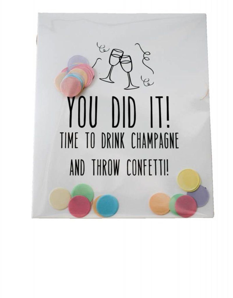 The gift label Confetti Kaart: You did it