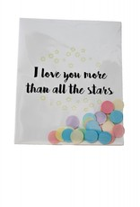 The gift label Confetti Kaart: I love you