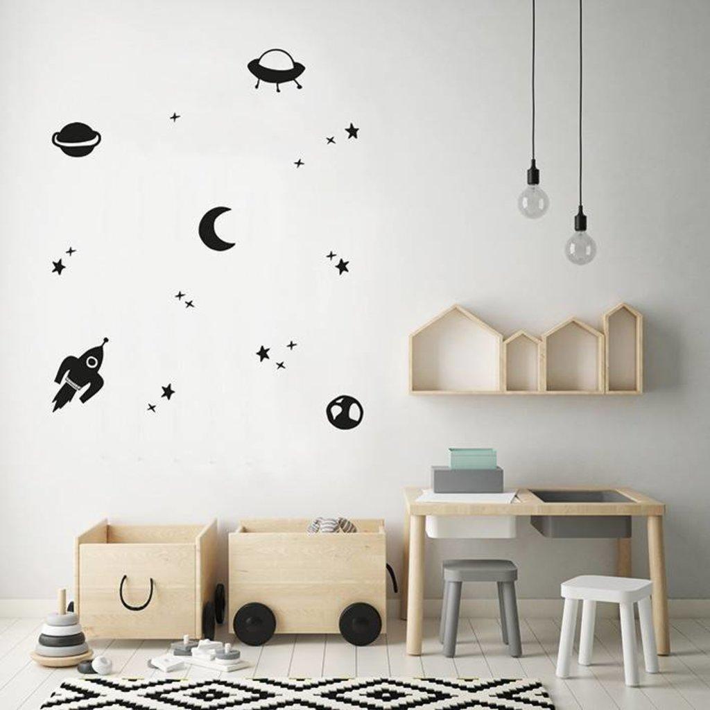 Let's Celebrate Muurstickers - space