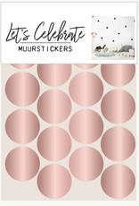 Let's Celebrate muurstickers geometrisch bolletje rosé
