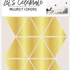 Let's Celebrate muurstickers geometrisch driehoek goud