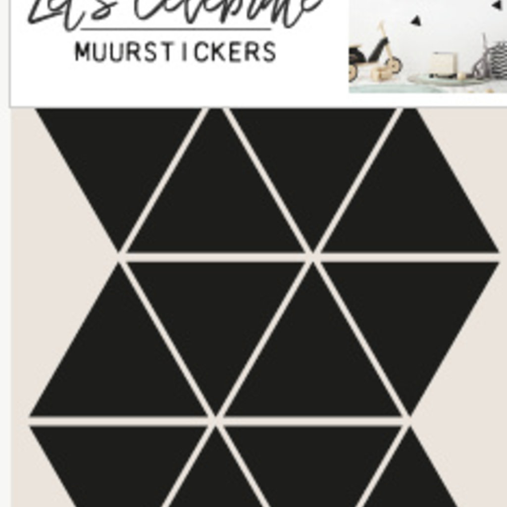 Let's Celebrate muurstickers geometrisch driehoek zwart