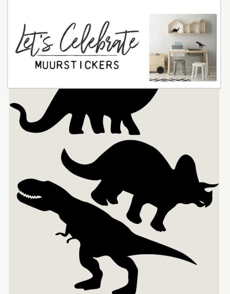 Let's Celebrate Muurstickers - dino's
