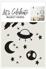 Let's Celebrate Muurstickers - space