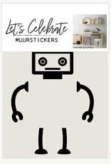 Let's Celebrate Muurstickers - robot