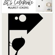 Let's Celebrate Muurstickers - Vogelhuisje