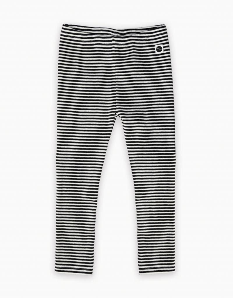 Sproet & Sprout Gestreepte legging zwart/wit