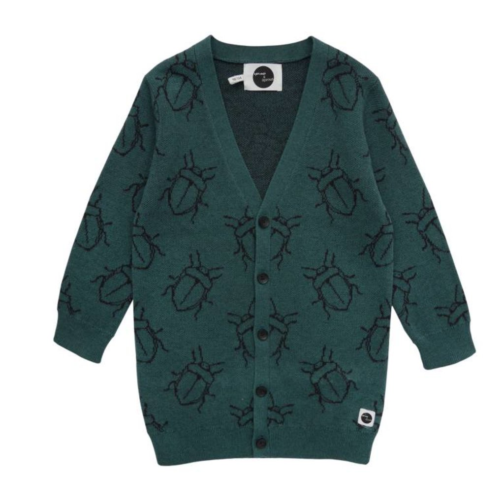 Sproet & Sprout Cardigan vest bugs
