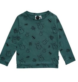 Sproet & Sprout t-shirt Bugs Allover groen
