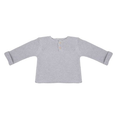 Little Indians Little Indians; Trui knit licht grijs