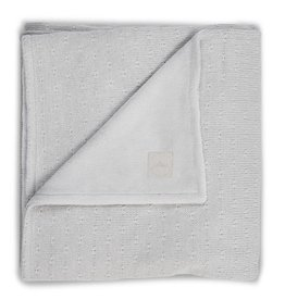 Jollein Deken soft knit light grey teddy