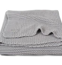 Jollein Deken heavy knit light grey